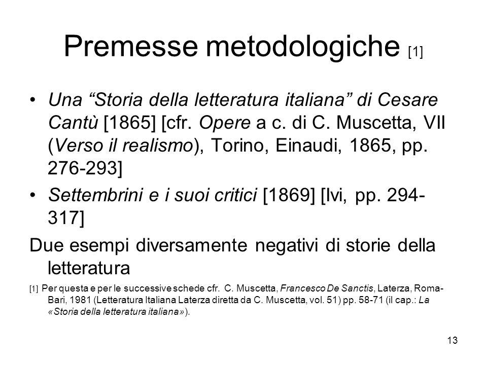 Premesse metodologiche [1]